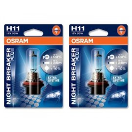 Žárovka H11 NIGHT BREAKER PLUS UNLIMITED 64211 NBU, 12V, 55W, OSRAM
